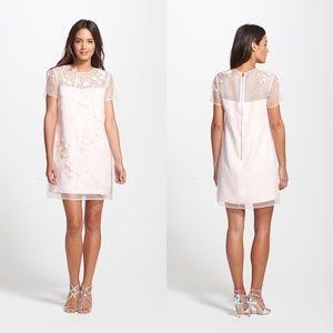 Ted Baker Findon Embellished Silk Organza Dress L